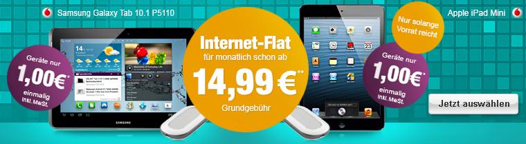 Vodafone Tablet + Flatrate für junge Leute