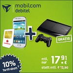 Samsung Galaxy S3 Mini mit Playstation 3 Super Slim
