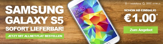 Samsung Galaxy S5 Tarifauswahl