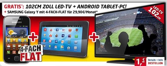 Smartphone + Tablet + 40 Zoll LED TV