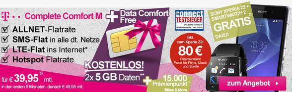 T-Mobile AllNet Flat + viel Zubehör - ohne Zuzahlung