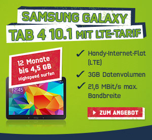 Samsung Galaxy Tab 4 10.1 LTE mit Vertrag