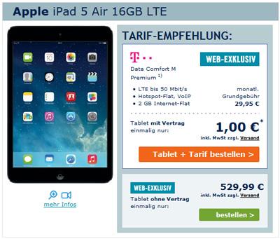 iPad Air mit Telekom LTE Flatrate