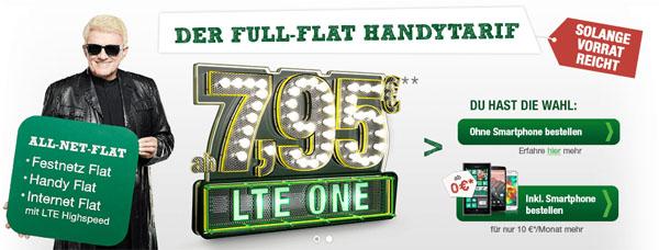 All Net Flat für 7,95 € mit LTE Internet Flatrate