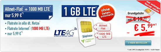 All Net Flat 1 GB LTE