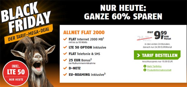 Black Friday All Net Flat 2GB